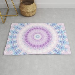 Pastel Purple and Blue Mandala Rug