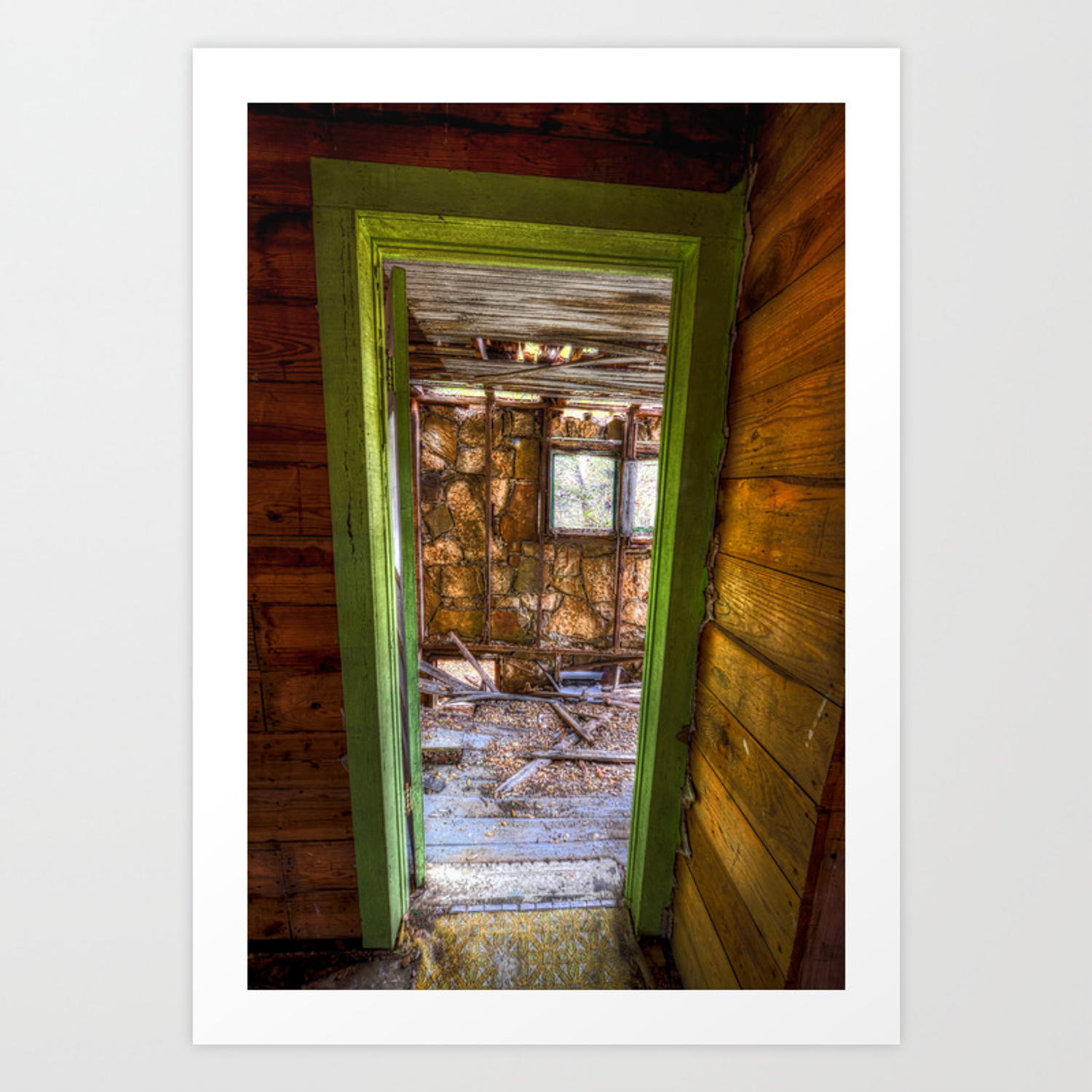 Behind The Green Door Pics behind the green door art print