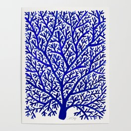 Fan Coral – Navy Poster