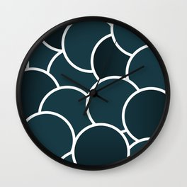 Petroleum Bubbles Wall Clock