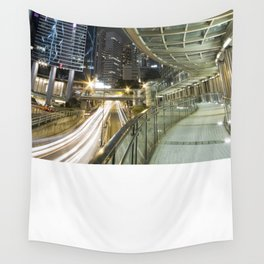 Hong Kong-Night View Wall Tapestry