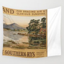 Vintage poster - Ireland Wall Tapestry