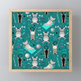 Fitness for cats Framed Mini Art Print