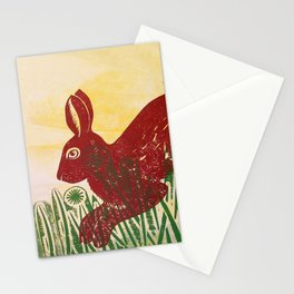 Leaping Hare Stationery Cards