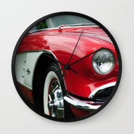 Red Corvette Wall Clock