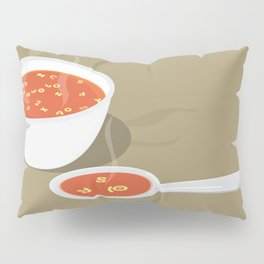 so[jo]pa de letras Pillow Sham