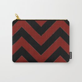 OU inspired Chevron Carry-All Pouch