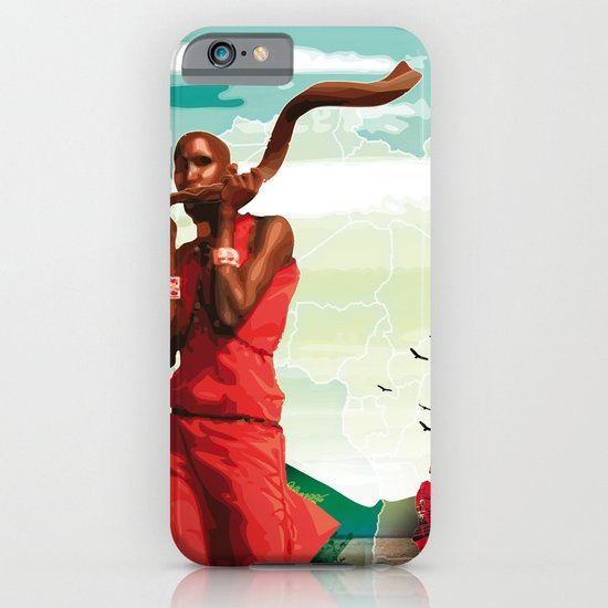 Poster Afryka! iPhone & iPod Case