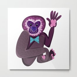 Cute Gorillas Metal Print