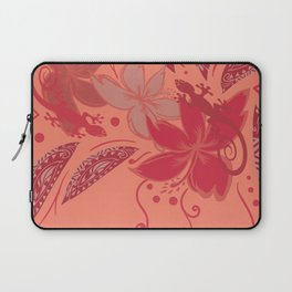 Samoa Watermelon Polynesian Floral Laptop Sleeve