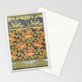 Martinets et chevrefeuille bordure Ecureuils et noisetier papier peint Oiseaux et noisetier en fleur Stationery Cards