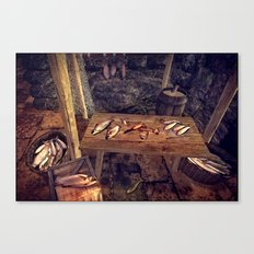 Fish day (day came for the processing of fish) Canvas Print