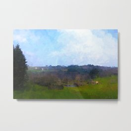 French Countryside, Early Spring Metal Print