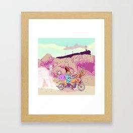 The Train Heist Framed Art Print