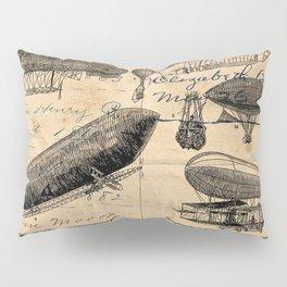 Vintage Hot Air Balloon Study Pillow Sham