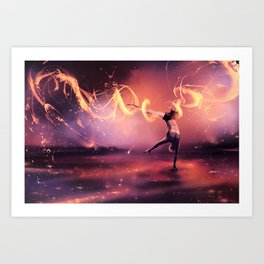 Fall Get up and Move Art Print