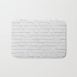 White Brick Wall Bath Mat