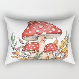 Watercolor Mushrooms Rectangular Pillow