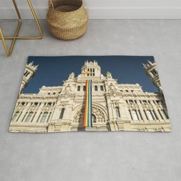 Building With LGBT Pride Flag Rug