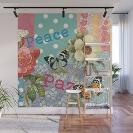 Peace Paz Pax Pace Wall Mural