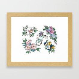 Botanical Tattoos Framed Art Print