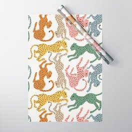 Rainbow Cheetah Wrapping Paper