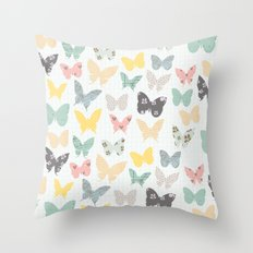 butterflies pattern Throw Pillow