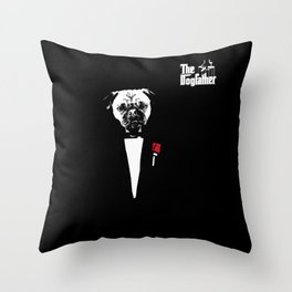 The dog father Throw Pillow