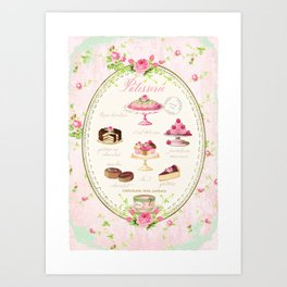 Pink Patisserie Rose Art Print