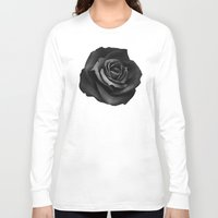 rose Long Sleeve T-shirts featuring Fabric Rose by Ruben Ireland