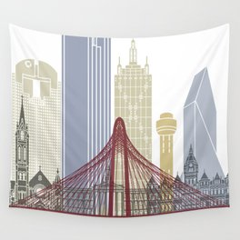 Dallas skyline poster Wall Tapestry