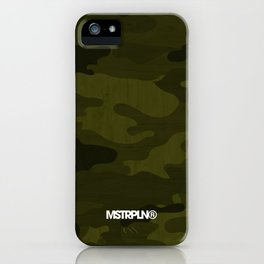 Modern Woodgrain Camouflage / Greenwoods DPM iPhone Case
