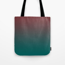 Ombre Quetzal Green Dark Red Pear Gradient Pattern Tote Bag