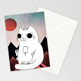 cat mountain 240 Stationery Cards