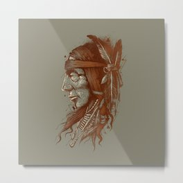 Indian Aphace Metal Print