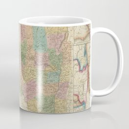 Vintage Map of New York (1835) Coffee Mug