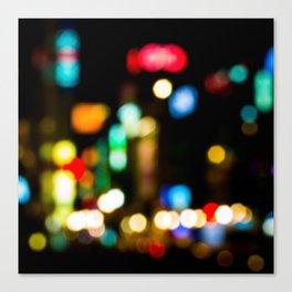Shibuya Bokeh Lights Canvas Print