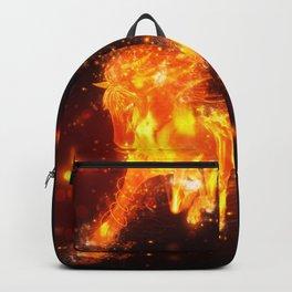 Running fire horse design Backpack