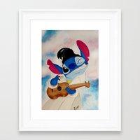 stitch Framed Art Prints featuring Stitch by Goolpia