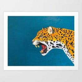 Roaring Jaguar Art Print