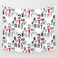 numbers Wall Tapestries featuring Numbers Pattern - Digital Art by William Cuccio aka WCSmack