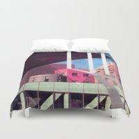 architecture Duvet Covers featuring Architecture  by Samuel Charrois