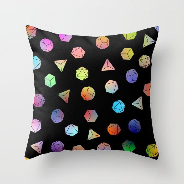 Platonic solids II Throw Pillow