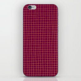 Threads of gold on dark magenta iPhone Skin