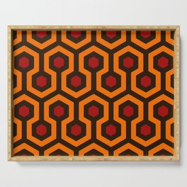 Carpet Pattern by Hicks Artwork for Wall Art, Prints, Posters, Tshirts, Men, Women, Kids Serving Tray