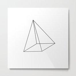 3D Pyramid Metal Print