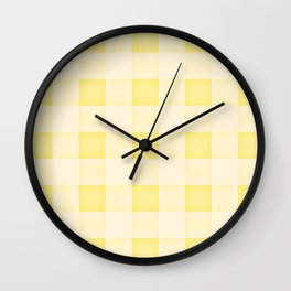 GINGHAM - SUNNY YELLO Wall Clock