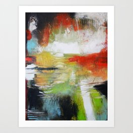 Unfinished Book - Abstract large print from original painting Art Print