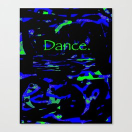 Dance (blue green) Canvas Print