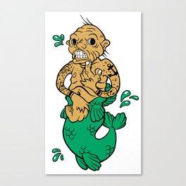 Feejee Mermaid Canvas Print